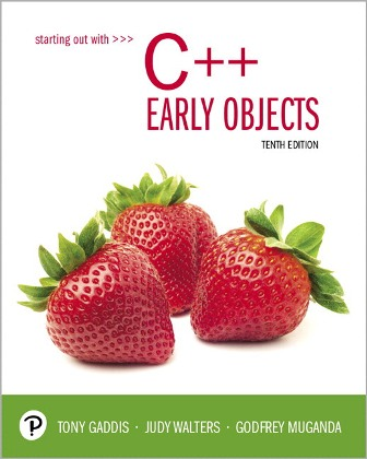 Test Bank: Starting Out With C++: Early Objects 10th Edition Gaddis