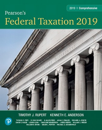 Test Bank: Pearson's Federal Taxation 2019 Comprehensive 32nd Edition Rupert