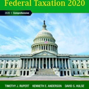 Solution Manual: Pearson's Federal Taxation 2020 Comprehensive 33rd Edition Rupert