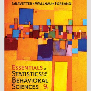 Test Bank: Essentials of Statistics for The Behavioral Sciences 9th Edition Gravetter