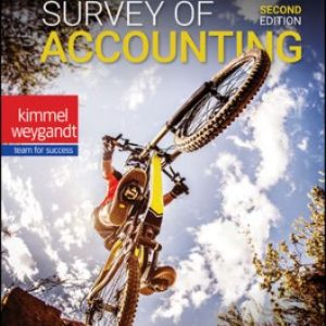 Solution Manual: Survey of Accounting 2nd Edition Kimmel