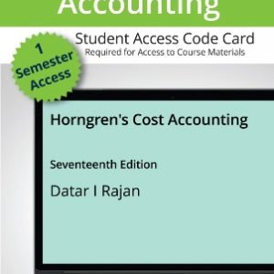 Solution Manual: Horngren's Cost Accounting 17th Edition Datar