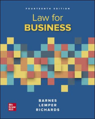 Test Bank: Law for Business 14th Edition Barnes