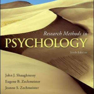 Solution Manual: Research Methods in Psychology 10th Edition Shaughnessy